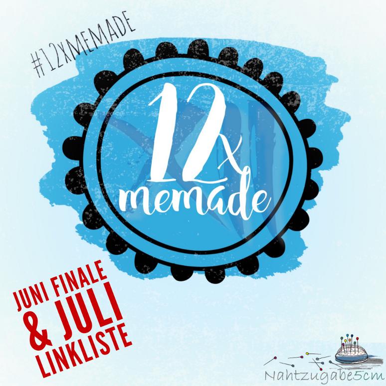 Logo 12xMeMade für Juni Fazit und Juli