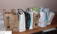 Fotos von dem Projekttaschen (Papiertaschen)
