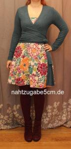 MeMadeMittwoch im 12-Tops-Challenge-Wickeljäckchen und Bloggertreffen Kleid