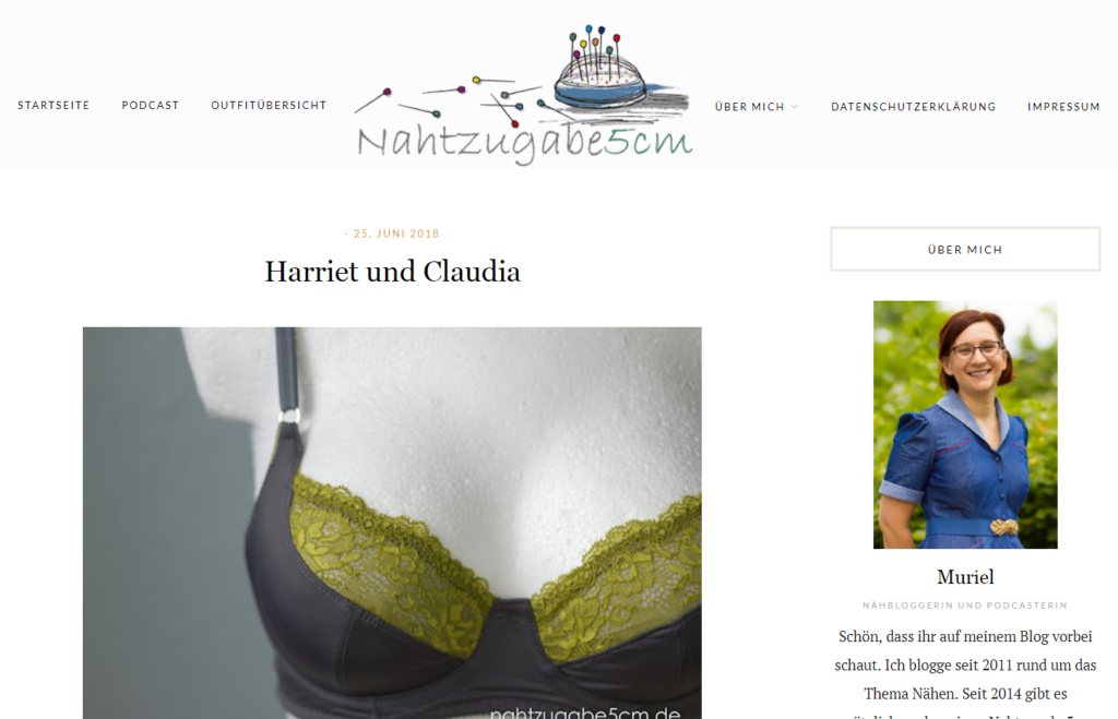 Screenshot des neuen Blogdesigns