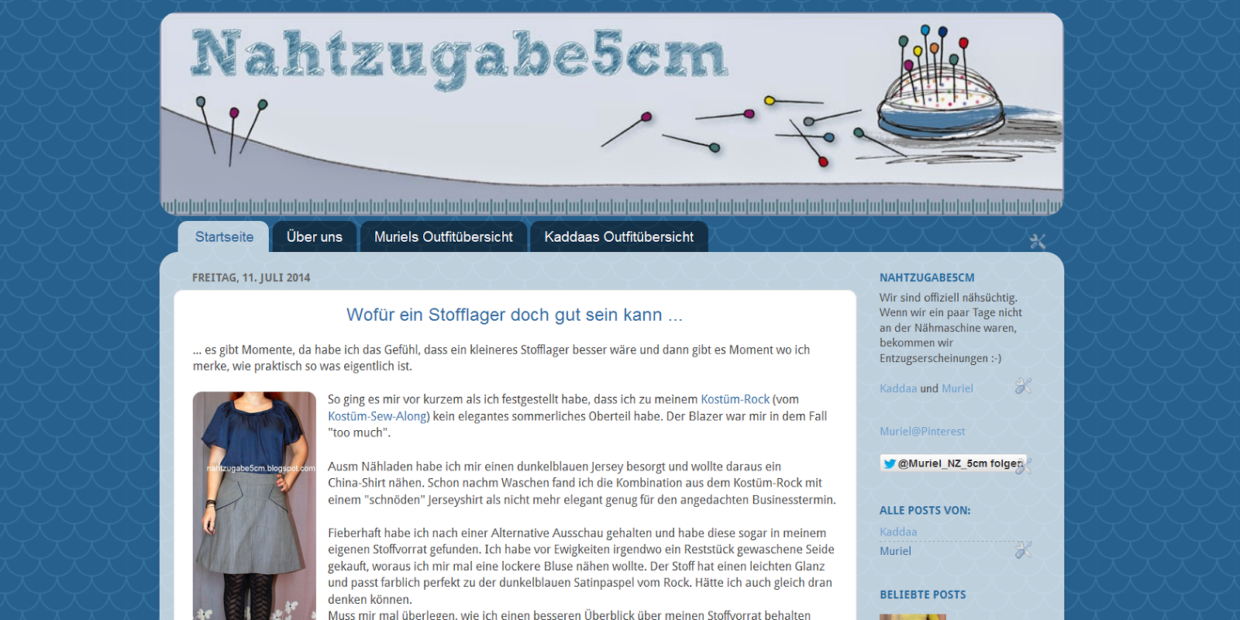 Screenshot vom 2014er Blogger Blogdesign