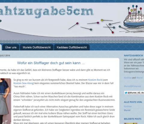Screenshot vom 2014er Blogger Blogdesign